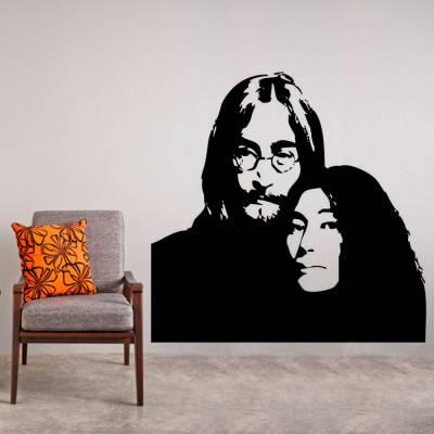 Adesivo de Parede John Lennon e Yoko