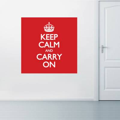 Adesivo de parede - Keep calm and carry on 2