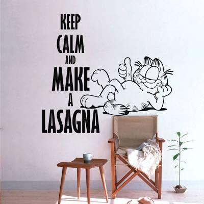 Adesivo De Parede Keep Calm Garfield
