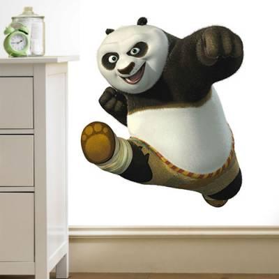 Adesivo de Parede Kung Fu Panda Po
