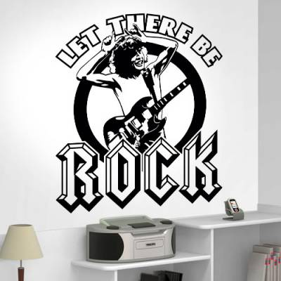 Adesivo de Parede Let There Be Rock
