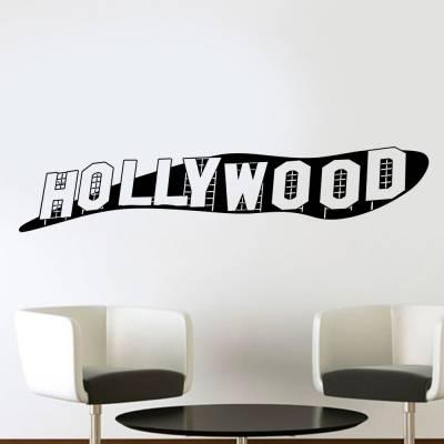 Adesivo De Parede Letreiro Hollywood