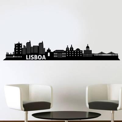 Adesivo De Parede Silhueta Lisboa