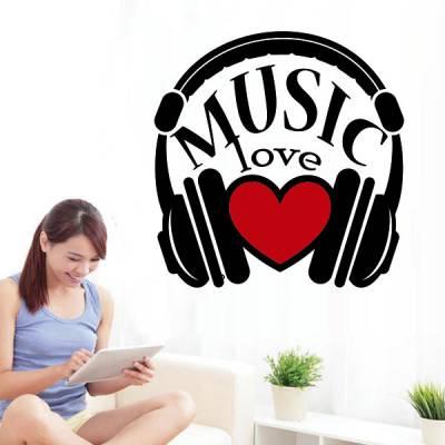 Adesivo de Parede Love Music