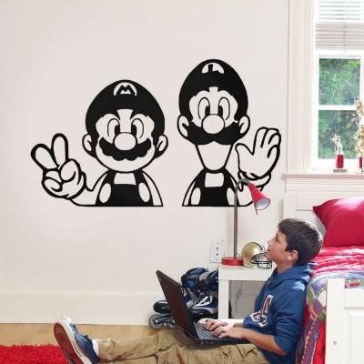 Adesivo de Parede Mario e Luigi