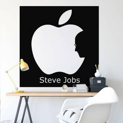 Adesivo De Parede Apple Steve Jobs