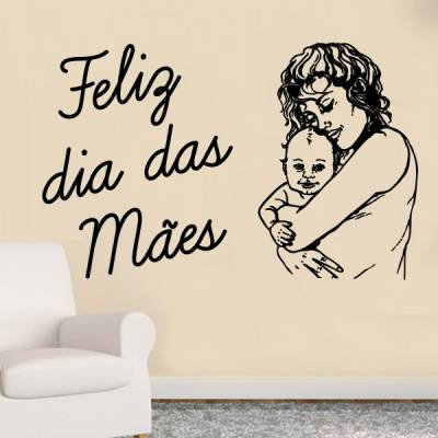 Adesivo de Parede Feliz Dia das Mães 2