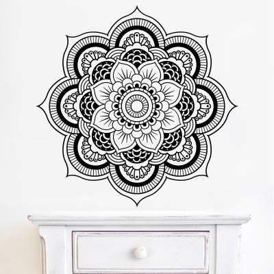Adesivo de Parede Floral Mandala Lotus