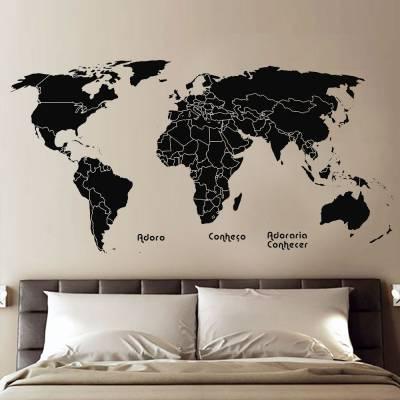 Adesivo De Parede Mapa Mundi 02