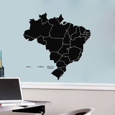 Adesivo De Parede Mapa Brasileiro