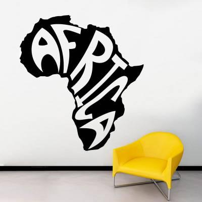 Adesivo De Parede Mapa Mundi Africa