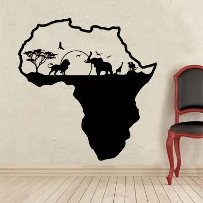 Adesivo De Parede Diversos Mapa Safari