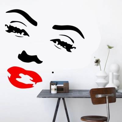 Adesivo decorativo de parede Marilyn Monroe 4