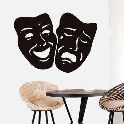 Adesivo de Parede Criativo Mascaras Teatro
