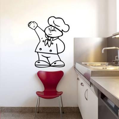Adesivo De Parede Mini Chef De Cozinha