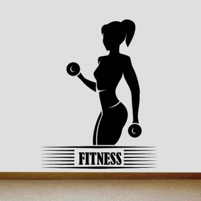 Adesivo de Parede Mulher Fitness