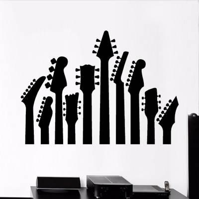 Adesivo De Parede Guitarras Musical 1
