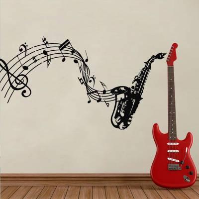Adesivo De Parede Trompete Musical