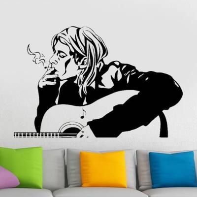Adesivo de Parede Nirvana Kurt Cobain