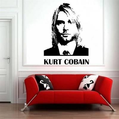 Adesivo Decorativo Nirvana Kurt Cobain