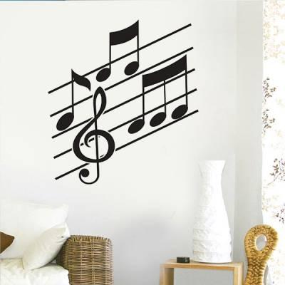 Adesivo de Parede Notas Musicais 02