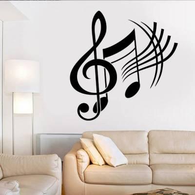 Adesivo de Parede Notas Musicais 03