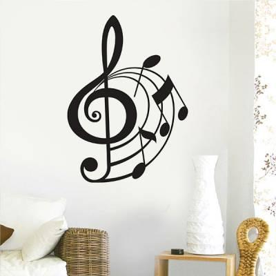 Adesivo de Parede Notas Musicais 06