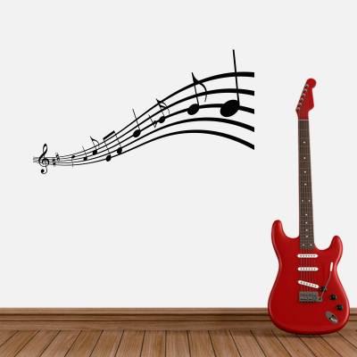 Adesivo De Parede Músical Notas Musicais