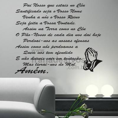 Adesivo Oração do Pai Nosso