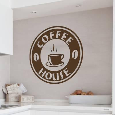 Adesivo De Parede Coffee House