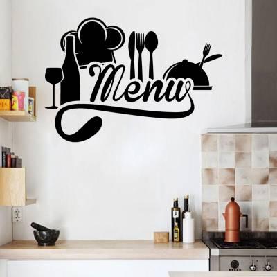 Adesivo de Parede Menu da Cozinha
