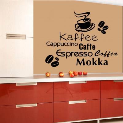 Adesivo De Parede Nome De Cafés Ao Redor Do Mundo