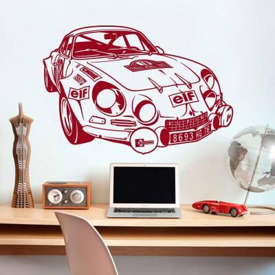 Adesivo de Parede Silhueta Porsche 89