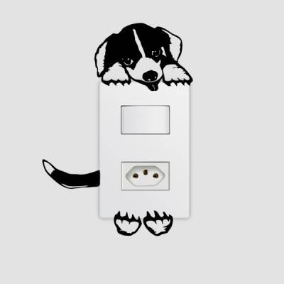 Adesivo de Parede para Interruptor Cachorrinho Foto