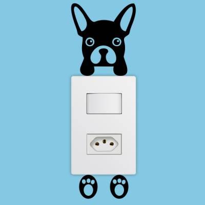 Adesivo de Parede para Interruptor Cachorrinho