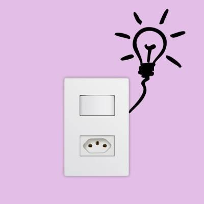 Adesivo de Parede para Interruptor Lampada