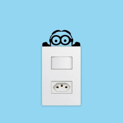 Adesivo de Parede para Interruptor Minions