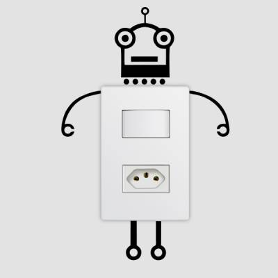Adesivo de Parede para Interruptor Robo