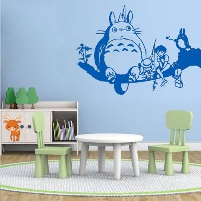Adesivo de Parede Totoro na Arvore