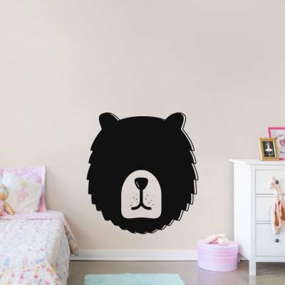 Adesivo de Parede Rosto Urso de Lousa