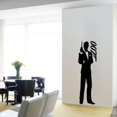 Adesivo de parede para quarto ou sala silhueta 007