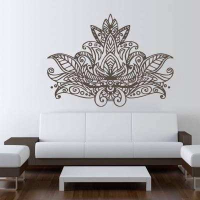 Adesivo de parede Mandala Flor de Lotus