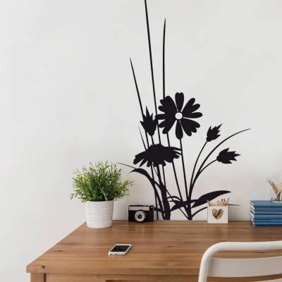 Adesivo de Parede Flores com folhagens espetadas