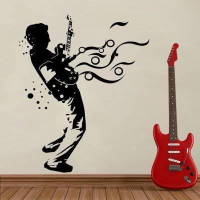 Adesivo de parede Homem Tocando Guitarra