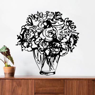 Adesivo de Parede Buquê de Flores Variadas