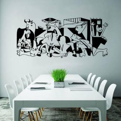 Adesivo de parede silhueta quadro Abstrato