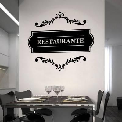 Adesivo de Parede Placa Restaurante