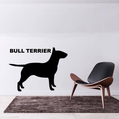 Adesivo de Parede Bull Terrier Silhueta