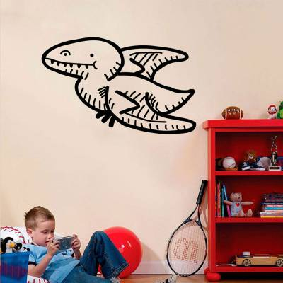 Adesivo de Parede Pterossauro Cartoon Voando