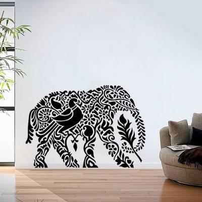 Adesivo De Parede Elefante Maore Silhueta